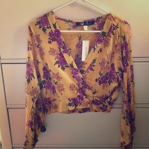 Mustard Yellow Floral Top